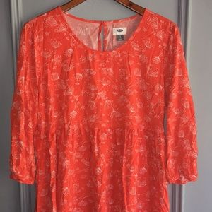 Bright Orange babydoll dress